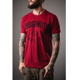 "DOUGHNUTS & DEADLIFTS -""BASICS Insignia"" Cardinal Red T-shirt"