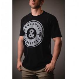 """DOUGHNUTS & DEADLIFTS - """"BASICS OG"""" Black T-shirt"""