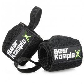 "BEAR KOMPLEX - ""Black"" Wrist Wraps"