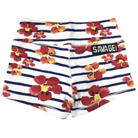 "SAVAGE BARBELL - Women Booty Short ""Jail Blossom"""