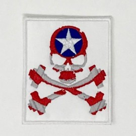 "SKULLFIT ""Captain"" Velcro Patch"