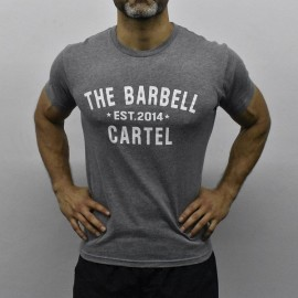 drwod_t-shirt_homme_the_barbell_cartel_fitness_classic_logo_gris_front