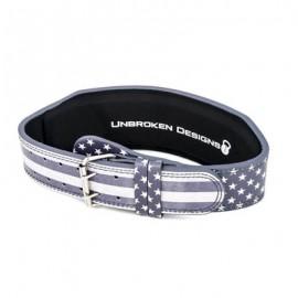 "UNBROKEN DESIGNS - ""Stars & Stripes"" Leather Lifting Belt"