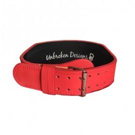 "UNBROKEN DESIGNS - ""Matte Red"" Leather Lifting Belt"