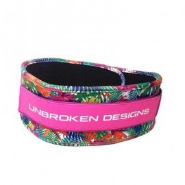 "UNBROKEN DESIGNS - ""Paradise Pink"" Cloth Lifting Belt"