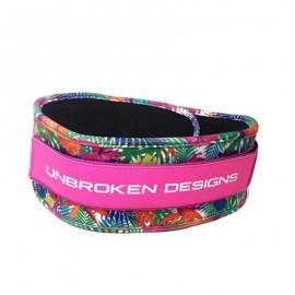 "UNBROKEN DESIGNS - ""Paradise Pink"" Cloth Lifting Belt"