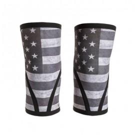 Genouillères en néoprène épaisseur 7 mm UNBROKEN DESIGNS modèle Stars & Stripes (vendues par paire) 1