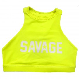 "SAVAGE BARBELL - Women Sports Bra ""High Neck Glow Stick"""