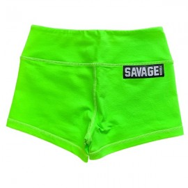 "SAVAGE BARBELL - Women Booty Short ""Sour Apple"""