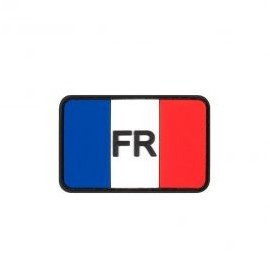 "DR WOD ""FR on French Flag"" Rubber Velcro Patch"