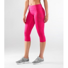 VIRUS - ECo34 | Stay Cool - Raspberry Crop Compression Crop Leggings