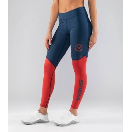 VIRUS - EAu21.5 | Bioceramic V2 - Leggings Compression Space Blue / Cranberry