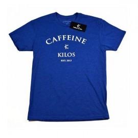 """CAFFEINE & KILOS - """"Arch Logo"""" Mens T-shirt - Blue"""