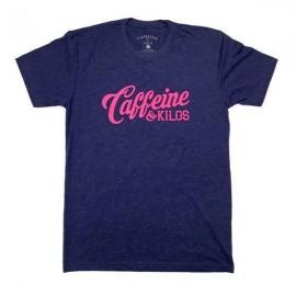 """CAFFEINE & KILOS - """"Script Logo"""" Mens T-shirt - Storm"""