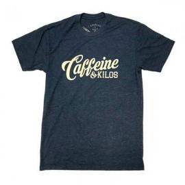 "CAFFEINE & KILOS - ""Script Logo"" Mens T-shirt - Navy"