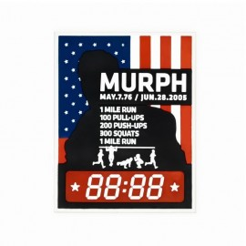 "DR WOD ""Murph"" Rubber Velcro Patch"