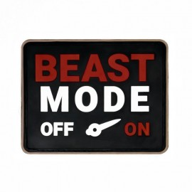 "DR WOD """"Beast Mode"" Rubber Velcro Patch"