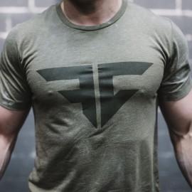 FRAN CINDY - Tee-Shirt Homme Kaki