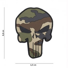 "DR WOD ""Camo Punisher"" Rubber Velcro Patch"