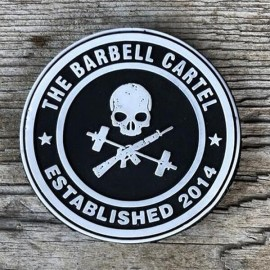 THE BARBELL CARTEL - Jolly Roger PVC Velcro Patch
