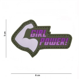 "DR WOD ""Girl Power"" Rubber Velcro Patch"