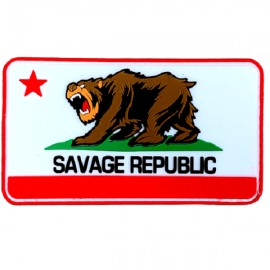 "SAVAGE BARBELL - Parche Velcro PVC ""Savage Republic"""