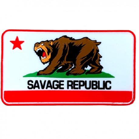 SAVAGE BARBELL - Savage Republic PVC Velcro Patch