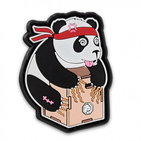 "DR WOD - ""Box jump Panda"" Rubber Velcro Patch"