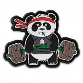 "DR WOD - ""Deadlift Panda"" Rubber Velcro Patch"