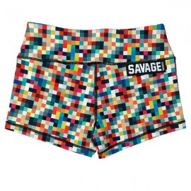 "SAVAGE BARBELL - Short Mujer ""Tetris"""