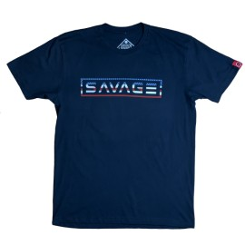"""SAVAGE BARBELL - Camiseta Hombre """"Uncle Sam"""" Navy Blue"""