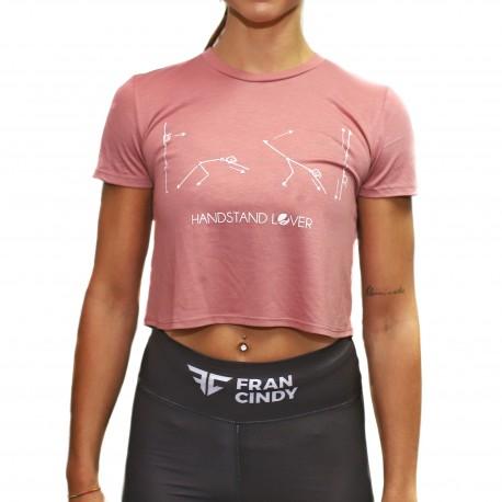 FRAN CINDY - Handstand Lover Women's Crop  Tee