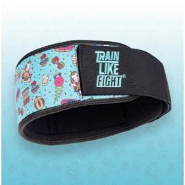 TRAIN LIKE FIGHT - HR Weightlifting Belt - Rainbow Cookie Attitude Soft Blue Edition