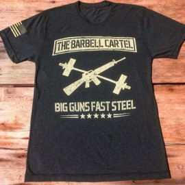 THE BARBELL CARTEL - Mens Big Gun Fast Steel T-shirt