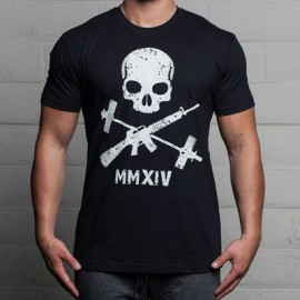 THE BARBELL CARTEL - mens JOLLY ROGER T-shirt