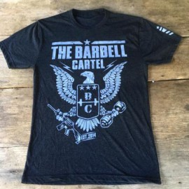 THE BARBELL CARTEL - mens EAGLE logo T-shirt